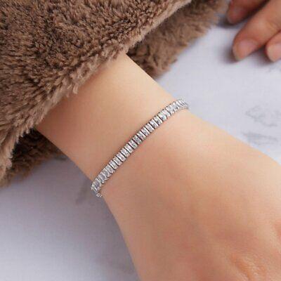 CZ Crystal Silver Rose Gold Slider Bracelet Adjustable Bangle Women Card Jewelry 7