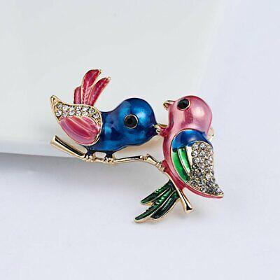 Fashion Brooch Pin Animal Bird Crystal Pearl Enamel Women Wedding Jewelry Gift 10