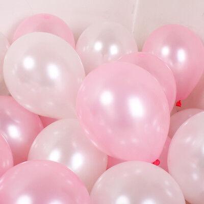 100Pcs Colorful Pearl Latex Balloon Celebration Party Wedding Birthday 10 inch 8