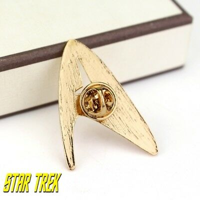 Star Trek Logo Metal Pin brooch Gold color Collectible gift decor cosplay 7