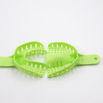 10 Pcs Autoclavable Dental Plastic Impression Trays Central Denture Disposable 6