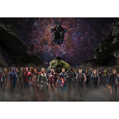 Avengers 4 & 3 Infinity War Movie Thanos Iron Man Kraft Paper Posters Picture 9