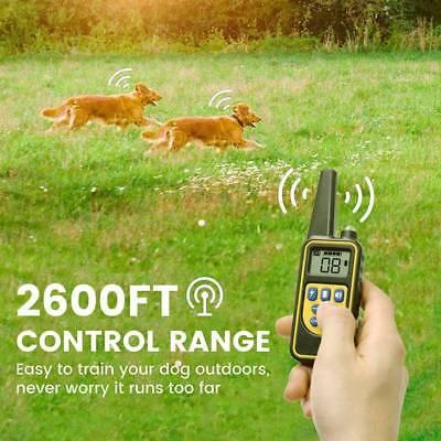 Collier Anti-aboiement de dressage electrique chock pour chien 800M LCD étanche 6