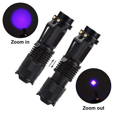 UV Ultra Violet LED Flashlight Blacklight Light 395/365 nM Inspection Lamp Torch 4