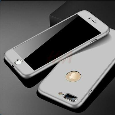 Coque 360 pour iPhone XS Max XR 6s 7 8 Plus 5 5S SE Protection Antichoc + Verre 5