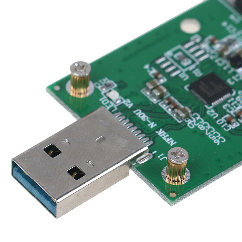 1Pc Mini USB 3.0 to PCIE mSATA External SSD PCBA Conveter Adapter  MER 8