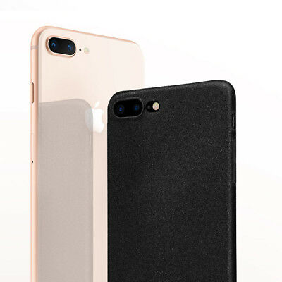 For iPhone 8 7 6 X Plus Shockproof Thin Soft TPU Sandstone Matte Back Case Cover
