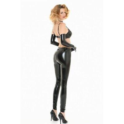 Catanzaro - S.Legging - Leggings ouvert par zip sexy moulant en vinyle noir 2