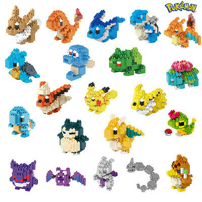 75 Modèles Nano Block Pokemon Mini Blocs de Construction Jouet Enfants Cadeau