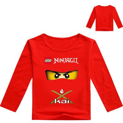 NINJAGO Jungen Mädchen Kinder Mode Freizeit Langärmelig Sweatshirt T-Shirt Tops