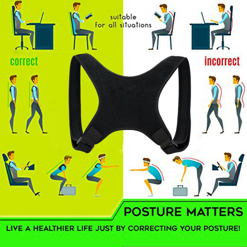 Posture Corrector Women Men Shoulder Brace Back Support Strap Belt Adjustable AU 9