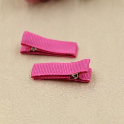 DIY 10PCS Blank Hair Snaps Hair Clips Hairclips Covered Grosgrain Ribbon Craft 7