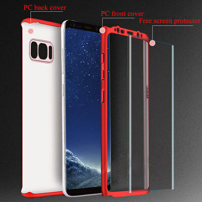 For Samsung Note 9 Note 8 360° Full Cover Shockproof Case Cover+Screen Protector 2