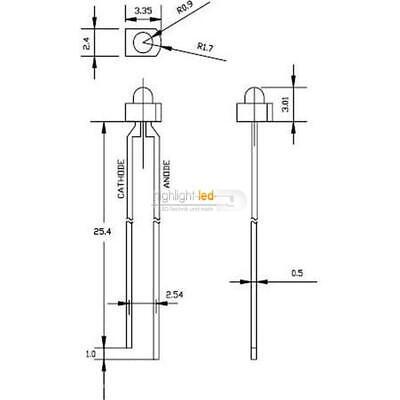 LED 1,8mm Orange diffus Stückzahl wählbar 1//10//25//50 Stück C3644