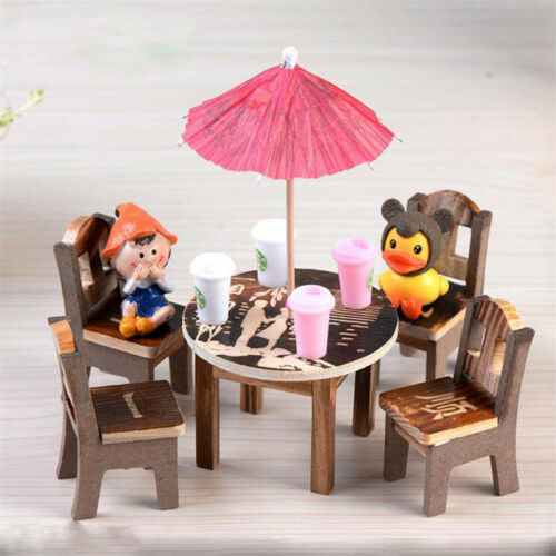 F e maison de poup e mini chaise table ombrelle jardin Mini table jardin