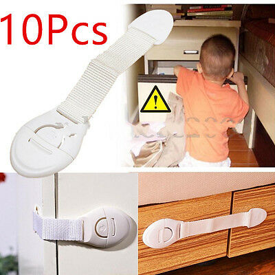10Pcs Baby Kids Child Adhesive Safety Lock For Cabinet Door Drawers Refrigerator 4