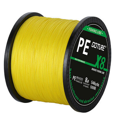 Goture 500M Braided Fishing Line 8 STRANDS Super Strong Saltwater Fishing Line 2