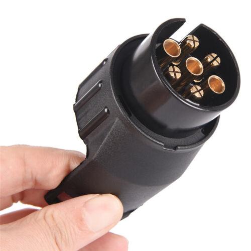 Auto Anhänger LKW 13 Pin auf 7 Pin Stecker Adapter Konverter Anhängerkupplu CC