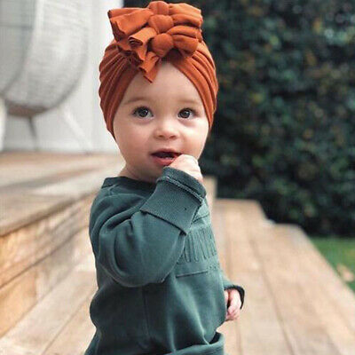 New Baby Headbands Turban Knotted Girl's Hair Bands for Newborn Children Cotton 8