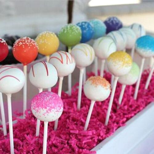 100 Stk CAKES STICKS SET Lollipop Lutscher Kuchen am Stiel 7cm 2018 DE