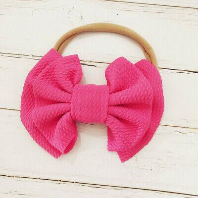 Handmade Baby Girls Simple Corn Bow Infant Headband Hair Band Knot Head Wrap 7