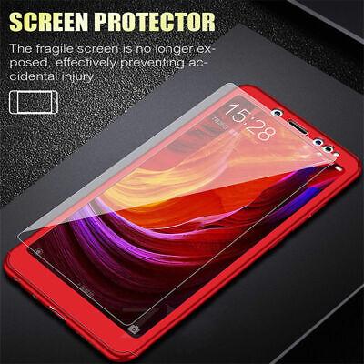For Xiaomi Redmi 7 7A 6A 5 Note 7 6 5 Pro 360° Full Cover Case + Tempered Glass 12