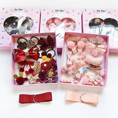 18PCS Baby Girls Head wear Elastic Bow knot Hair Clip Barrette Hairpin Xmas Gift 5