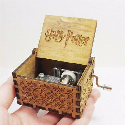 Harry Potter Music Box Engraved Wooden Music Box Interesting Toys Xmas Gifts US 4