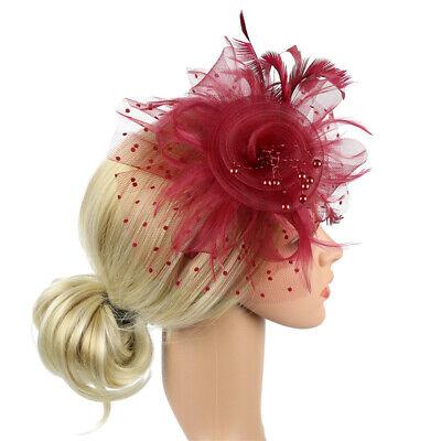 Ladies' Day Fascinator Hat Cocktail Tea Party Headband Women Wedding Hair Clip 8