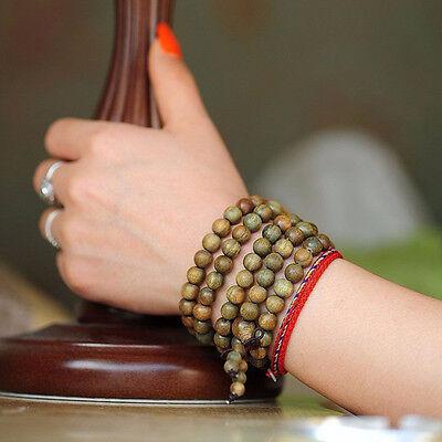 1PC Sandalwood Buddhist Meditation 8mm*108 Prayer Bead Mala Bracelet Necklace 5