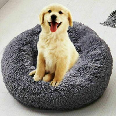 US Fur Donut Cuddler Pet Calming Bed Dog Beds Soft Warmer Medium Small Dogs Cats 5