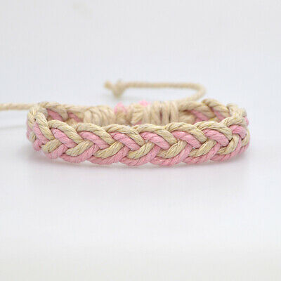Fashion Girl's Hemp Rope Weave Bracelet Simple Accessories Jewelry Gift 11