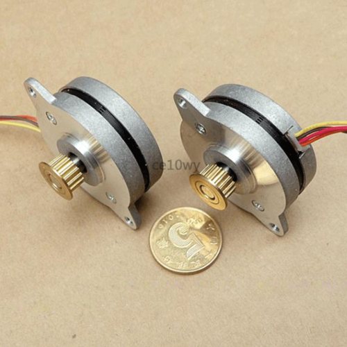 36mm Stepper Motor 0.9° 2-phase 4-wire Stepping Motor with Pulley for Monitor 5