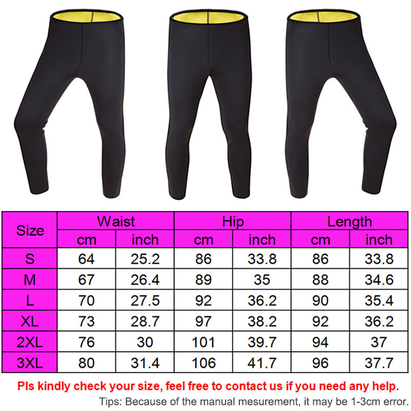 Sweat Sauna Body Shaper Slimming Pants Thermo Neoprene Gym Weight Loss USPS N075 2
