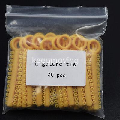 1 Pack 1040 Pcs Dental Orthodontic Elastic Braces Rubber Ligature Ties 37 Colors 8