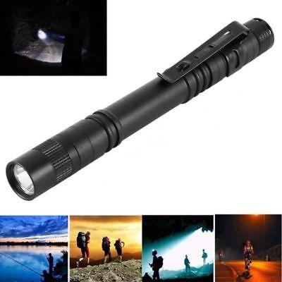 5PCS Cree-XPE-R3 LED Flashlight Clip Mini Light Penlight Portable Pen Torch Lamp 2