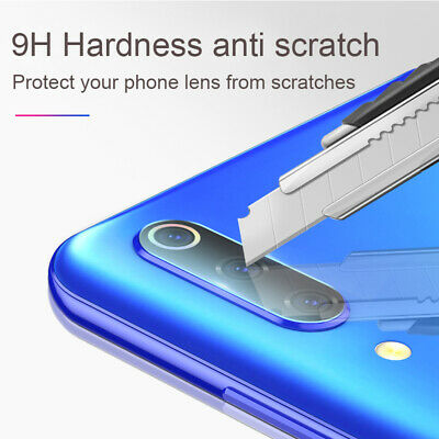 For Xiaomi Redmi Note 7 Camera Lens Protector Case Metal Ring Cover +Glass Film 10