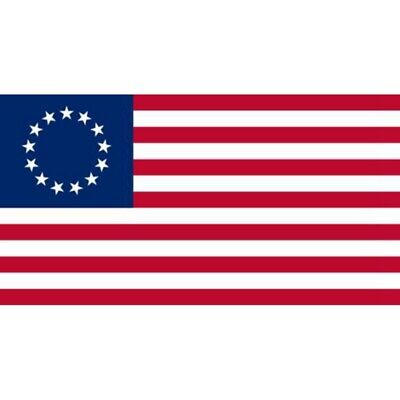 Betsy Ross 3x5 ft Poly Banner Flag- 13 Stars 1776 American Colonial - USA SELLER 4
