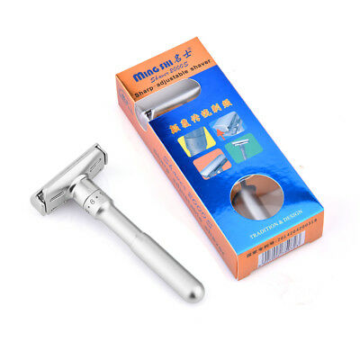 Men's Traditional Classic Double Edge Shaving Safety Razor Shaver+5 Blades Free 4