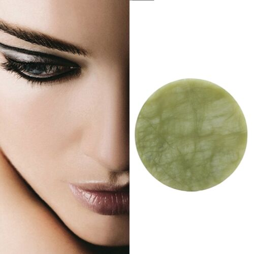 Unique Round Jade Stone Eyelash Extension Glue Adhesive Pallet Pad Holder Stand