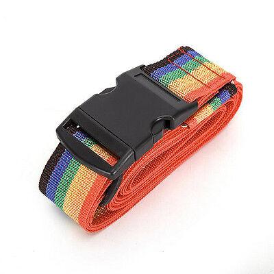 Rainbow Travelling Backpack Bag Luggage Suitcase Straps Adjustable Baggage Belt 11