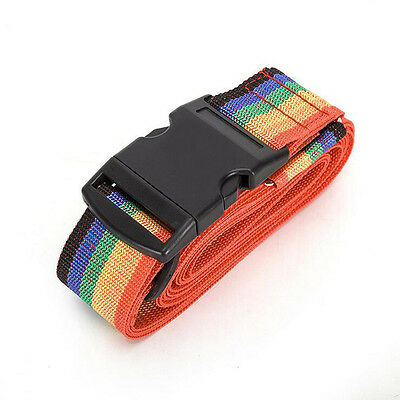 Rainbow Travelling Backpack Luggage Suitcase Strap Adjustable Nylon Strapping 9