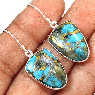 Silver Plated Vintage Turquoise Dangle Ear Hook Boho Hoop Women Jewelry Earrings 10