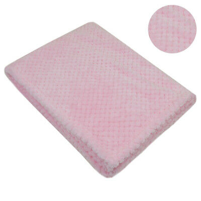 Personalised  embroidered BABY WAFFLE BLANKET gift set 3 color SUPER SOFT bunny 9