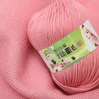 Lot Chunky Yarn Knitting wool Silk Protein cashmere Crochet baby soft cotton 50g 6