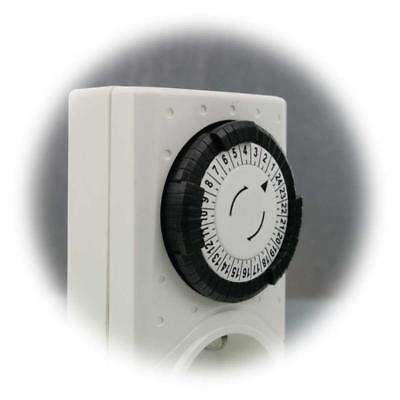 Zeitschaltuhr mechanisch, analoge Zeituhr, Schaltuhr analog, 3680W Steckdose 24h 4