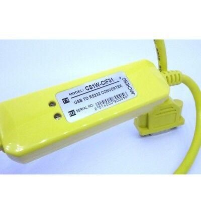 Omron CS1W-CIF31 USB PLC Programming Cable USB to RS232 Converter 001276 4
