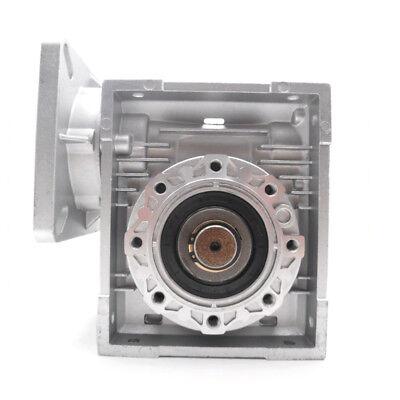 Worm Gear Reducer NMRV040 NEMA34 Input 14mm Ratio 15 25 40 50 80:1 Stepper Motor 4
