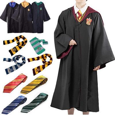Harry Potter Manteau écharpe Krawatt Gryffindor Slytherin Ravenclaw Cape Costume 3