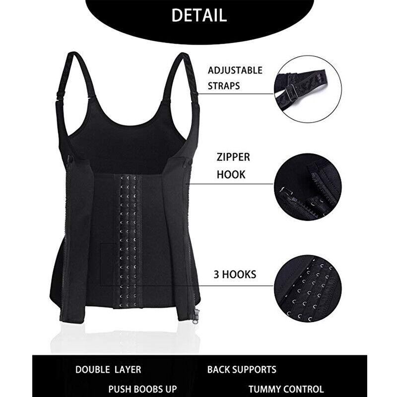 Women Body Shaper Shapewear Waist Trainer Cincher Underbust Corset Sauna Vest US 5